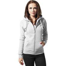 9cf8ae5357f0 Urban Classics Sweatjacke Damen Basic Kapuzen Pullover Zip Hoodie TB-079  Grau S