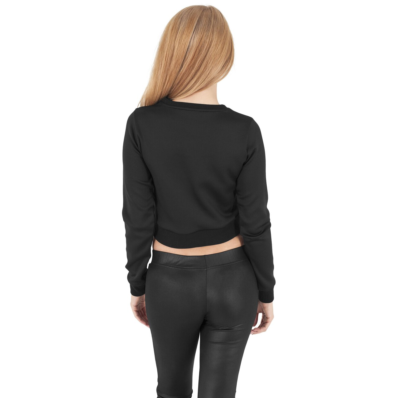 urban classics pullover damen scuba cropped sweatshirt tb 1063. Black Bedroom Furniture Sets. Home Design Ideas