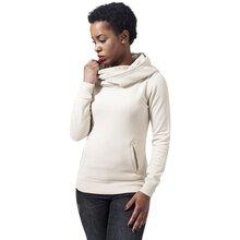 Urban Classics Sweatshirt Damen High Neck Kapuzen Pullover Hoodie TB-1327  Weiß XL 13399cf3e1