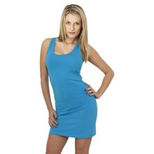 81d9485cb30093 Urban Classics Damen Kleid Ärmelloses Slim Fit Basic Dress TB-464 Türkis L