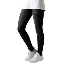 6593b37a3aaa Urban Classics Hose Damen Ripped Destroyed Look Denim Jeans TB-1362 Schwarz  W29