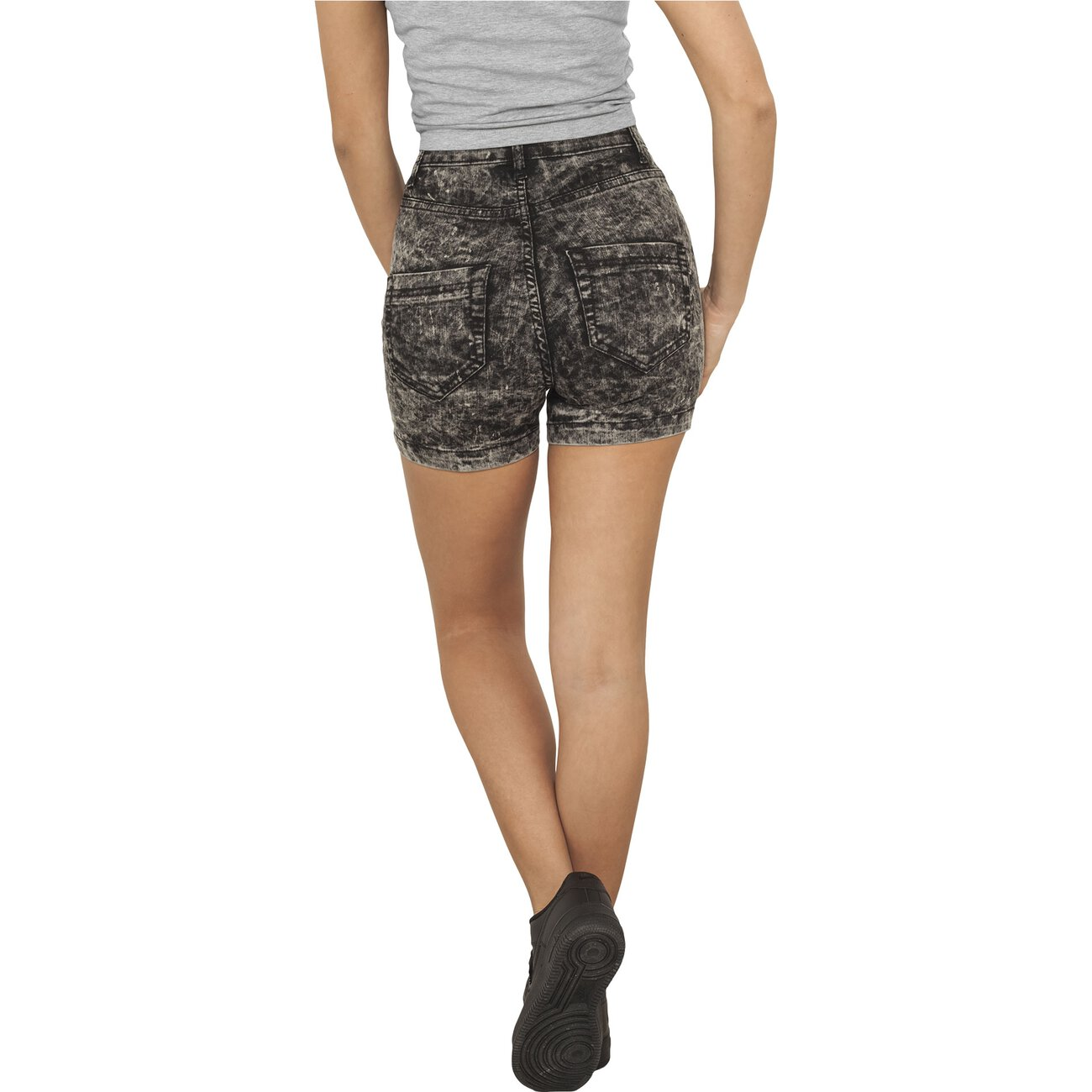 high waist jeans shorts urban classics shorts damen tb 958. Black Bedroom Furniture Sets. Home Design Ideas