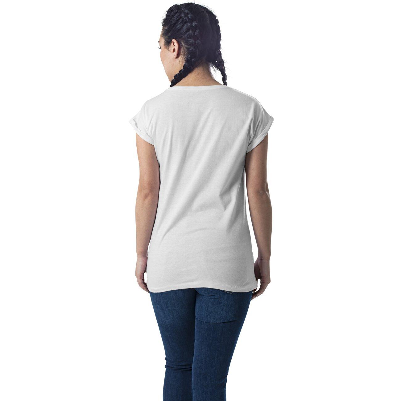 mister tee t shirt damen bowie motiv print kurzarm shirt wei. Black Bedroom Furniture Sets. Home Design Ideas