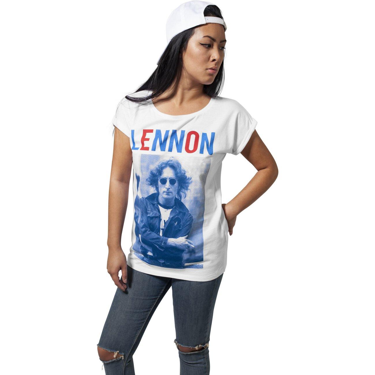 mister-tee-t-shirt-damen-john-lennon-bluered-motiv-print-shirt-mt-468-weiss .jpg f8054a8403
