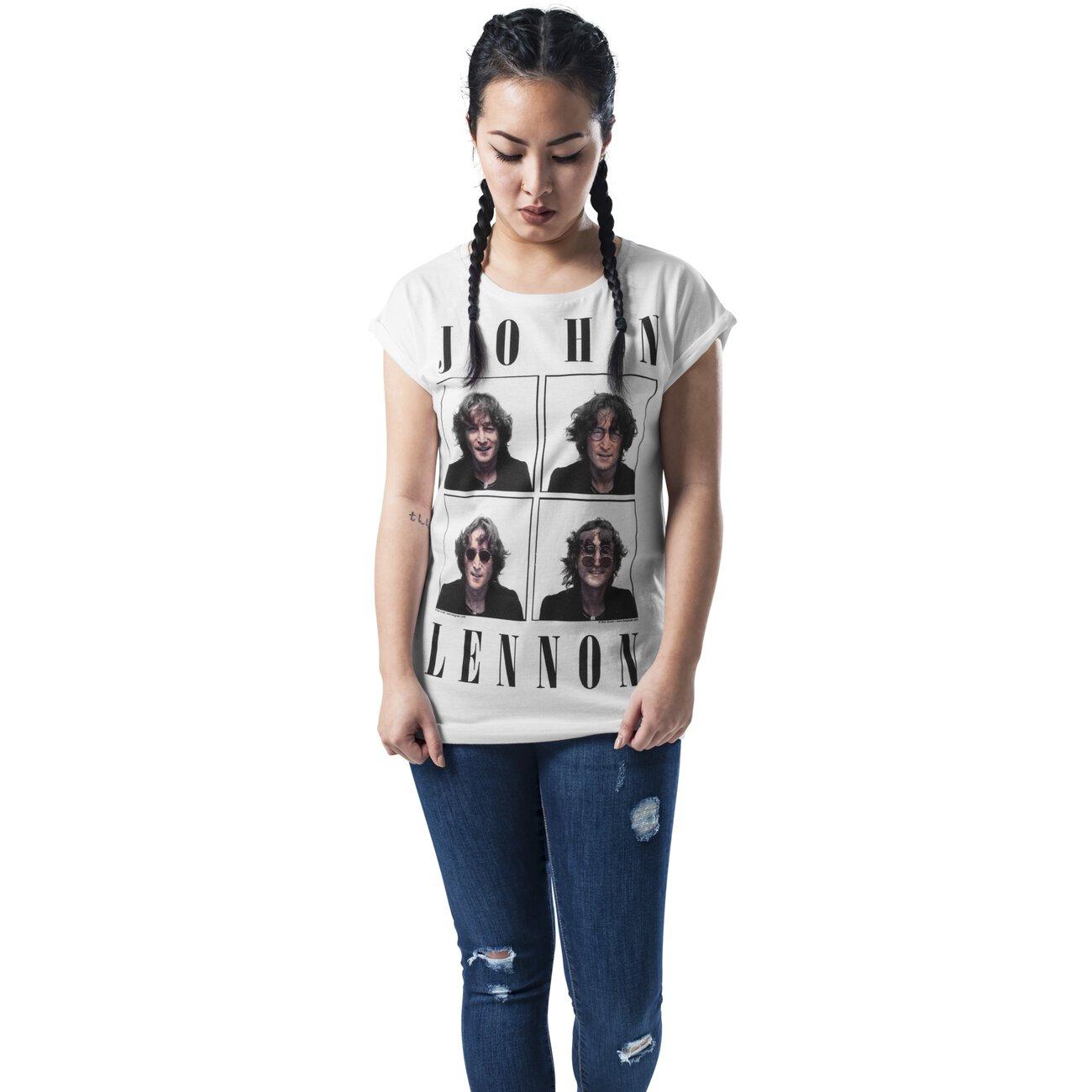 mister-tee-t-shirt-damen-john-lennon-pictures-motiv-print-shirt-mt-469-weiss .jpg 9404b01ac5