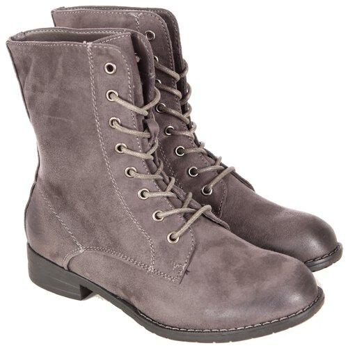 premium selection 16c27 4152b Damen Schuhe Schnür-stiefeletten Wildleder-Optik Boots Schnürer-Stiefel  A2B-1019