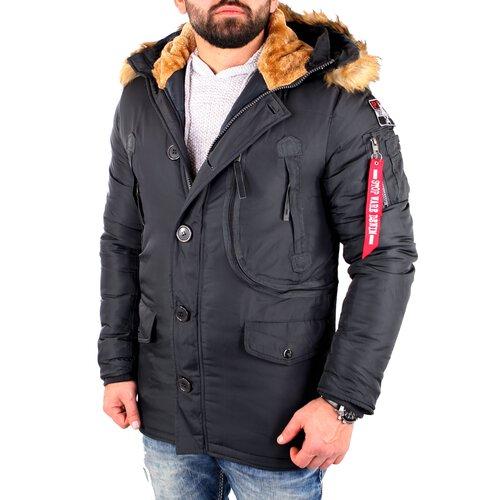 herren winter jacke mit kragen und bündchen