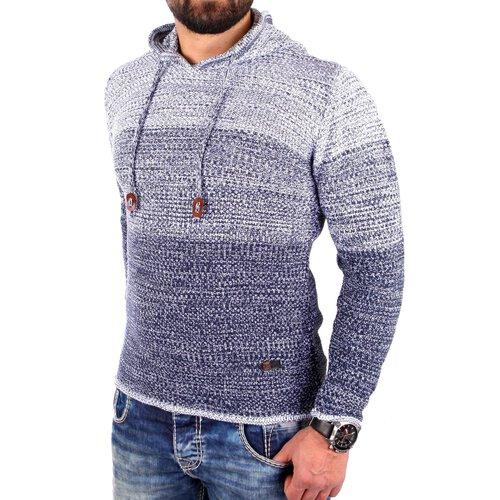 quality design 35c47 208fb Reslad Strickpullover Herren Colorblock Kapuzen-Pullover Hoodie RS-3108