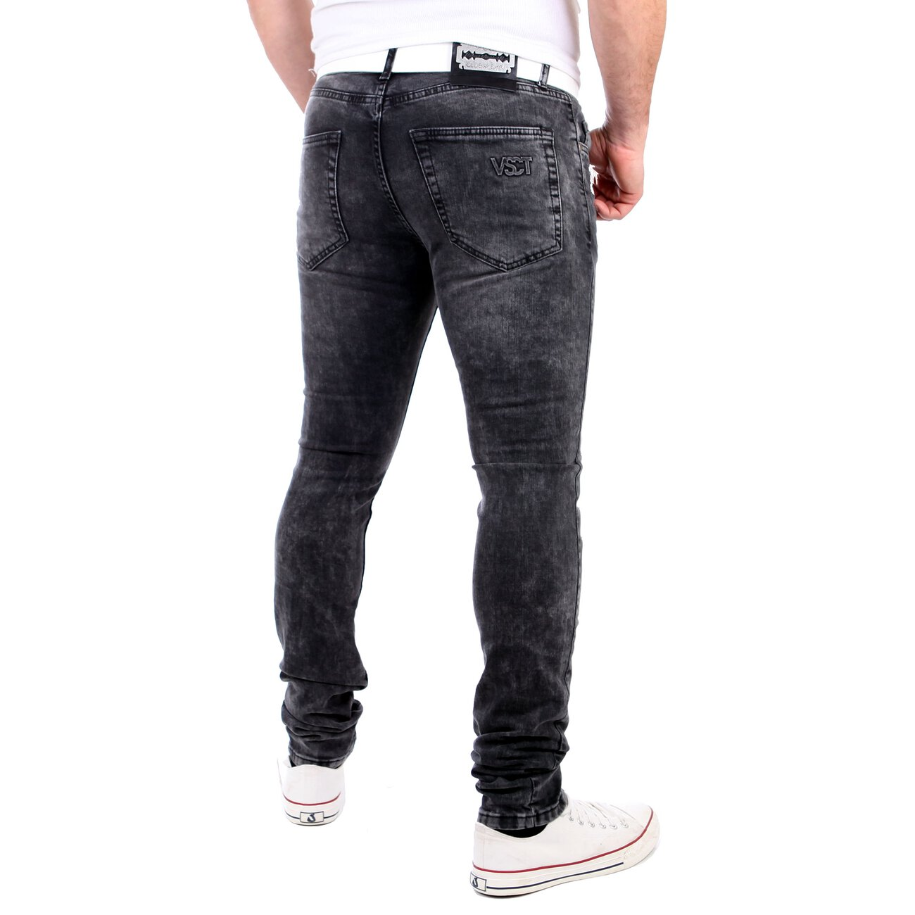 vsct jeans herren keno rock heavy destroyed look schwarz. Black Bedroom Furniture Sets. Home Design Ideas
