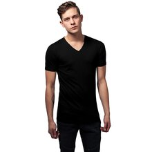 Urban Classics T-Shirt Herren Basic V-Neck Kurzarm Shirt...