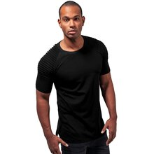 Urban Classics T-Shirt Herren Pleat Raglan Arm Kurzarm...