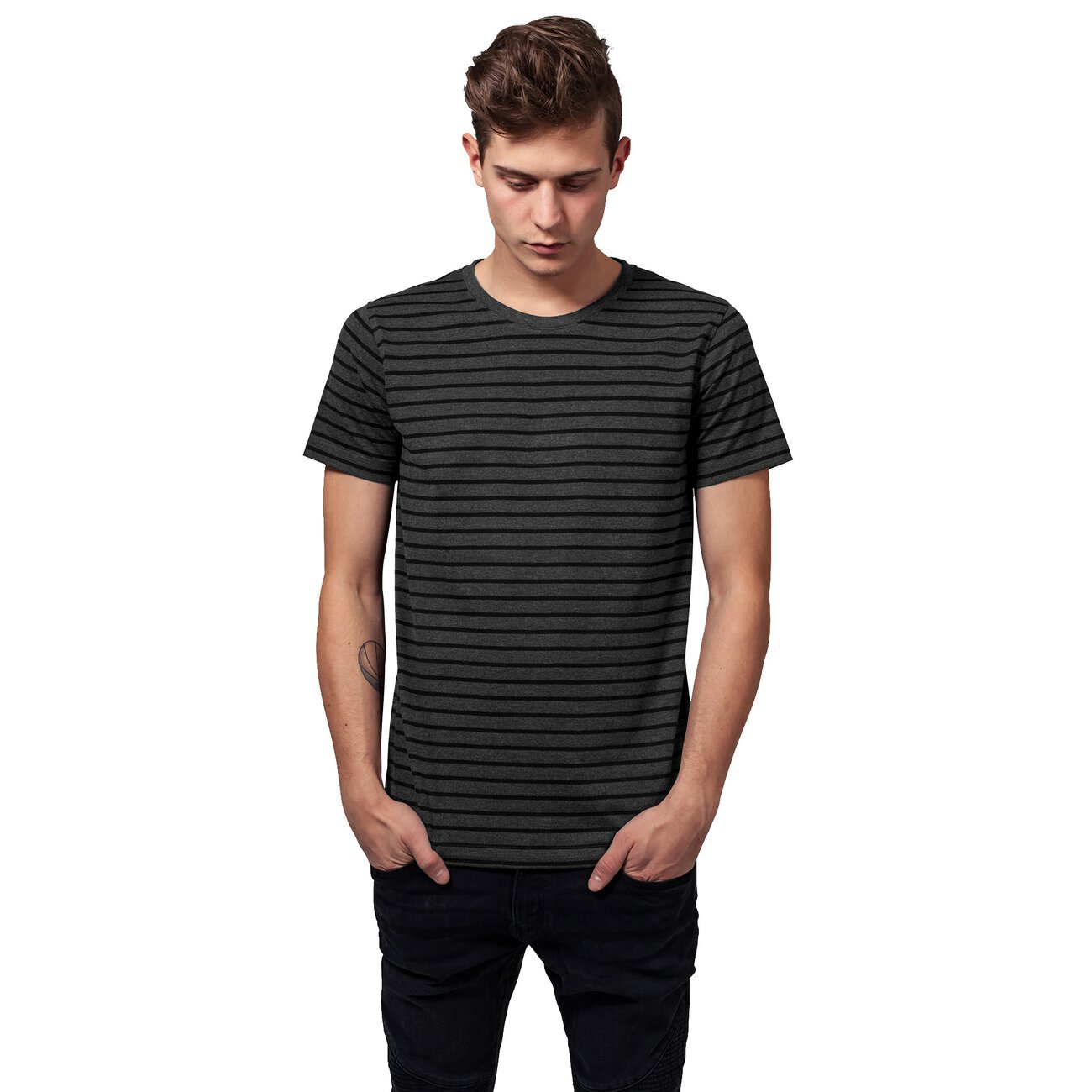 gestreiftes t shirt herren urban classics ringelshirt. Black Bedroom Furniture Sets. Home Design Ideas