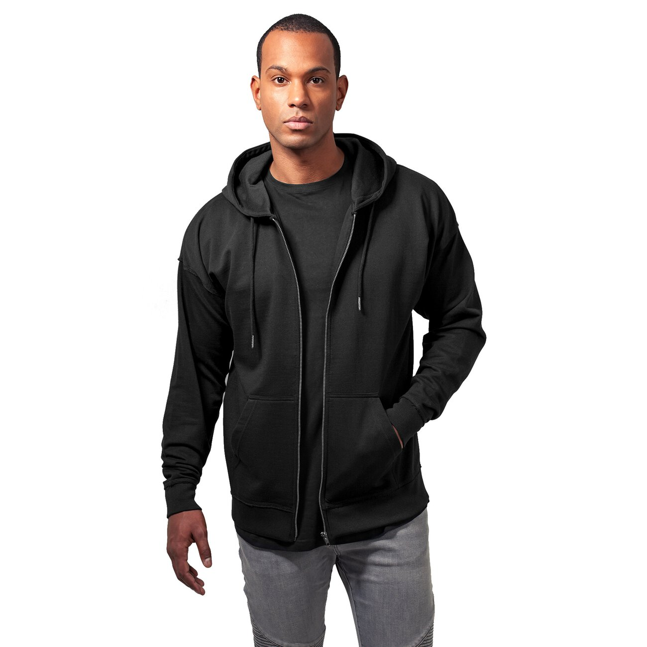 oversize sweatjacke urban classics herren sweat zip kapuzenpulli. Black Bedroom Furniture Sets. Home Design Ideas