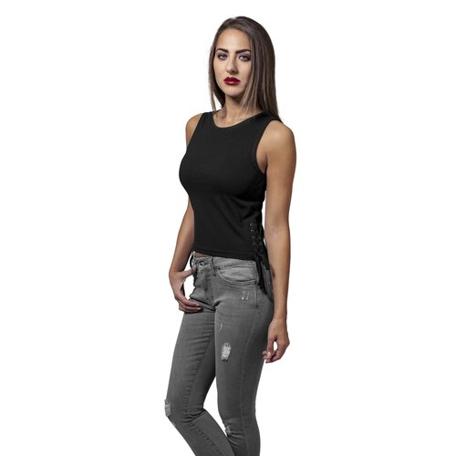 Urban Classics Damen Top Ärmelloses Lace Up Cropped Top-Shirt TB-1494
