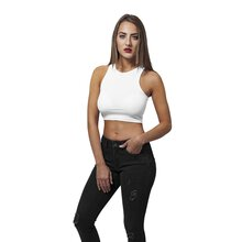 Urban Classics Damen Top Cropped Rib Bauchfreies Shirt...