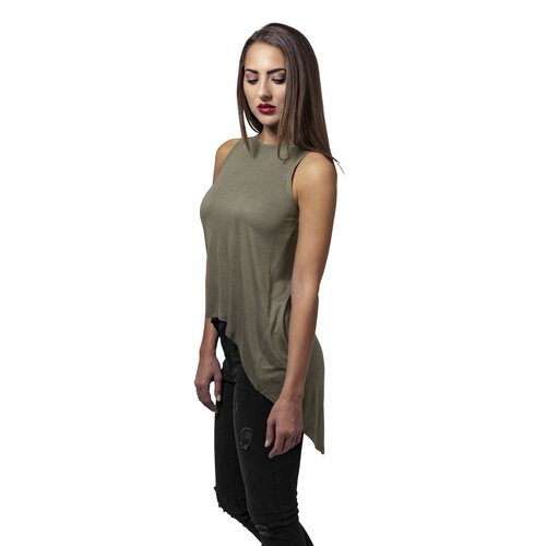 Urban Classics Damen Top HiLo Viscose Asymmetrisches Shirt TB-1509