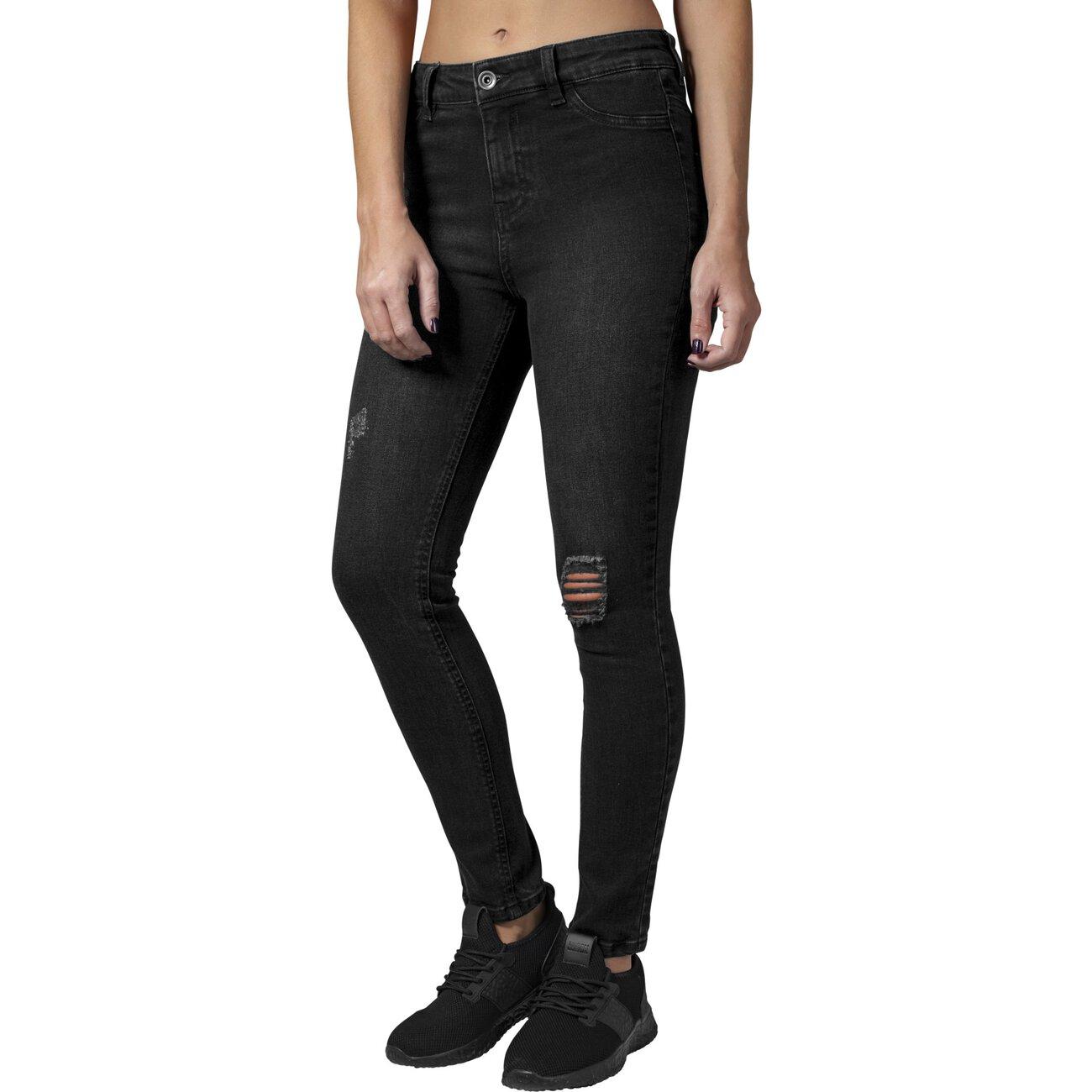 urban classics hose damen skinny denim jeans high waist hose. Black Bedroom Furniture Sets. Home Design Ideas