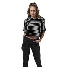 Urban Classics T-Shirt Damen Short Striped Oversized...