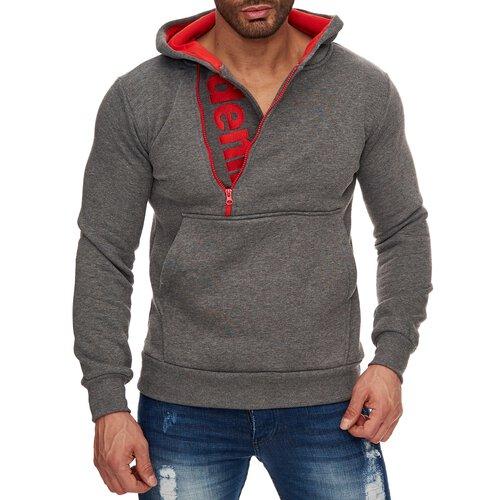 Reslad Herren Pullover Sweatshirt Kapuzen Pullover Hoodie RS 1031