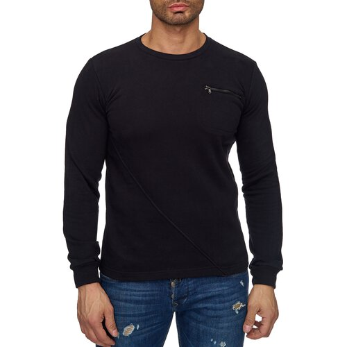 Reslad Sweat-Shirt Herren Interlock Sweater mit Brusttasche RS-1034
