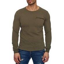 Reslad Sweat-Shirt Herren Interlock Sweater mit...
