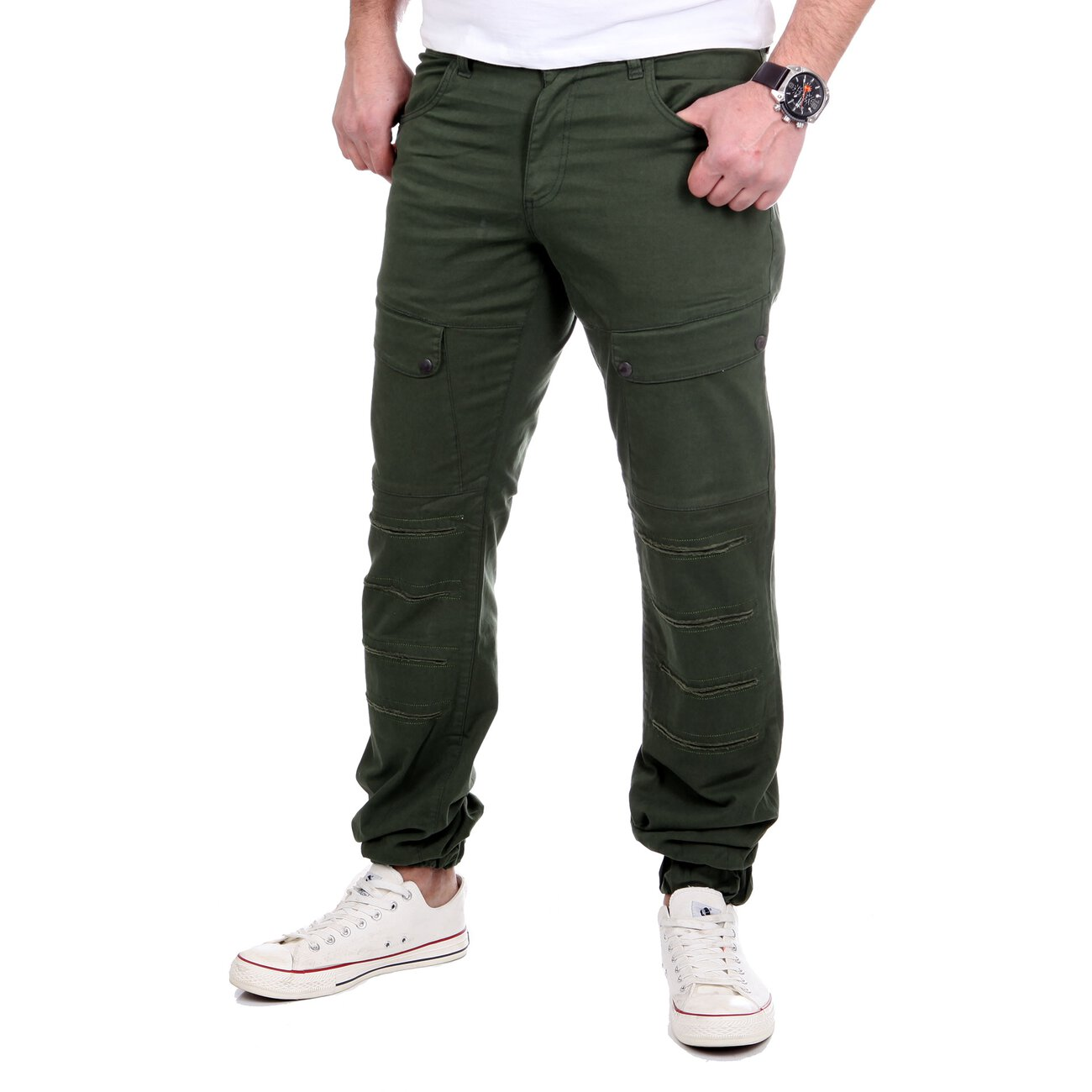 reslad herren jogger chino hose mit taschen rs 2057. Black Bedroom Furniture Sets. Home Design Ideas