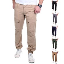 Reslad Jogger Chino-Hose Herren-Hose Big Pocket...