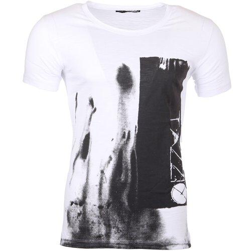 a18033c886292b Tazzio T-Shirt Herren Rundhals Motiv-Print Druck Kurzarm Shirt TZ-17106