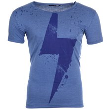 Tazzio T-Shirt Herren VOLTAGE Motiv-Print Striped Kurzarm...
