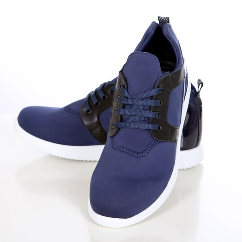 timeless design fbf0a 56344 Sneaker Herren-Schuhe Fashion Sport Low Cut Neopren Schnürer K-154 Blau EUR  42