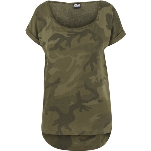 Urban Classics T-Shirt Damen Camo Back Shaped Kurzarm Shirt TB-1635