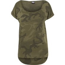 Urban Classics T-Shirt Damen Camo Back Shaped Kurzarm...
