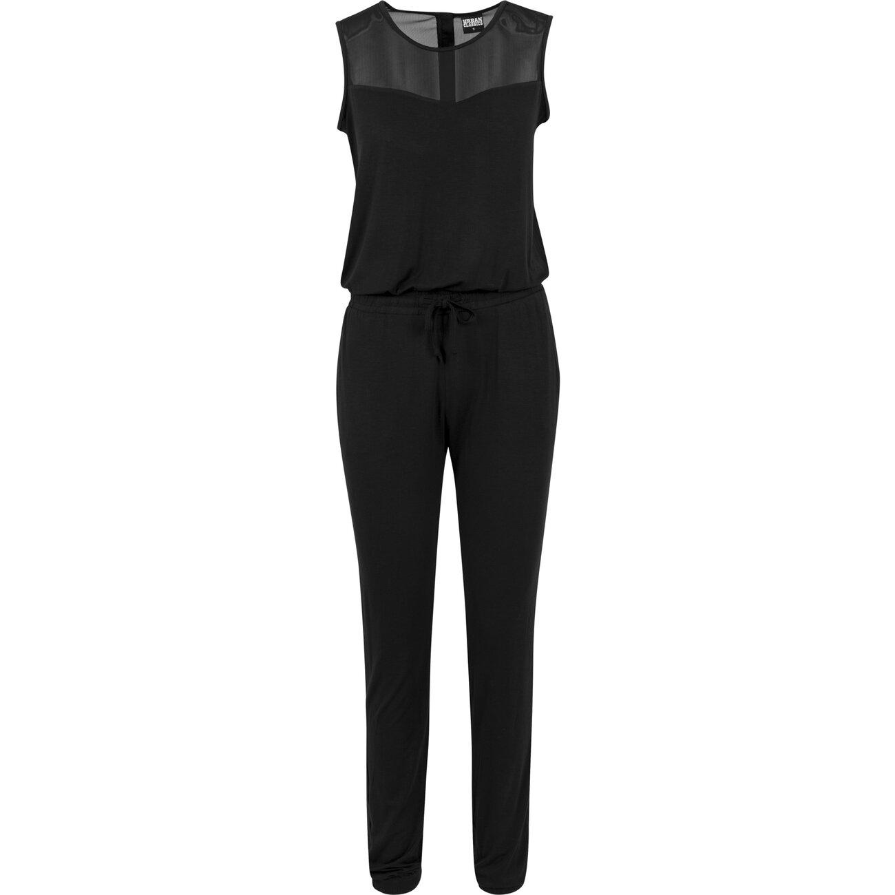 urban classics jumpsuit damen melange look einteiler anzug. Black Bedroom Furniture Sets. Home Design Ideas