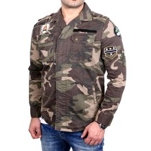 Redbridge Übergangs-Jacke Herren Military Patched...