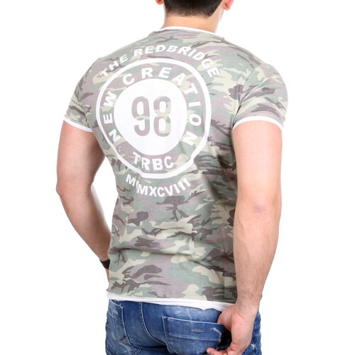 Redbridge T-Shirt Herren Rundhals Camo Rücken-Print Layer-Shirt RB-1138