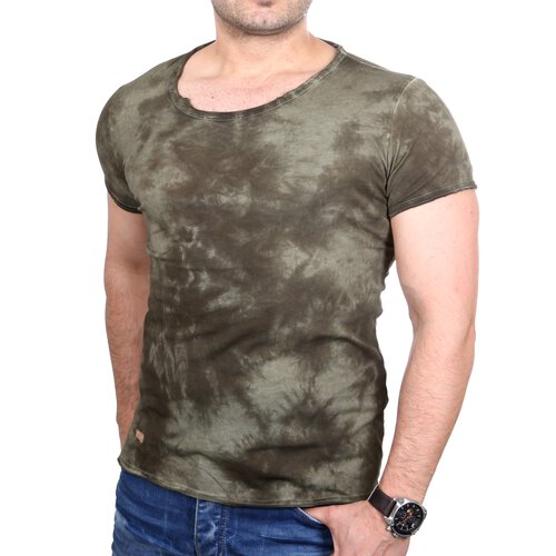 Redbridge T Shirt Herren Vintage Used Look Batik Design Shirt RB 1143 ...