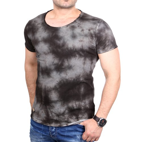 ... Redbridge T Shirt Herren Vintage Used Look Batik Design Shirt RB 1143  ...