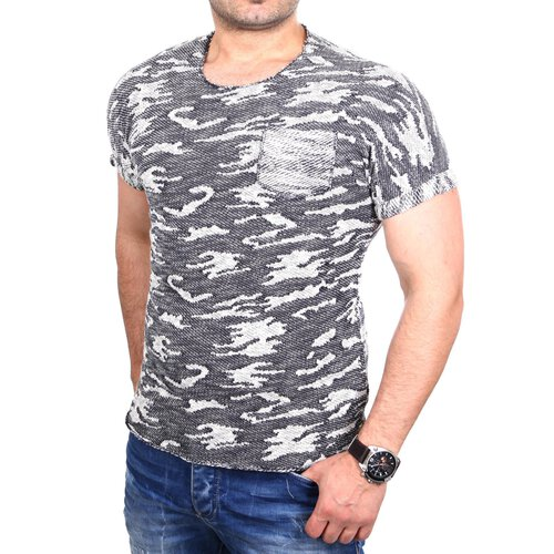 buy popular 7b9e7 5c7e8 Redbridge Herren T-Shirt Camouflage Kurzarm Grob Strick-Shirt RB-1169