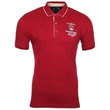59e03a24bdf9 Reslad Polo-Shirt Herren Poloshirt Kontrast Polo-Kragen Kurzarm-Shirt  RS-5204 Bordeaux S