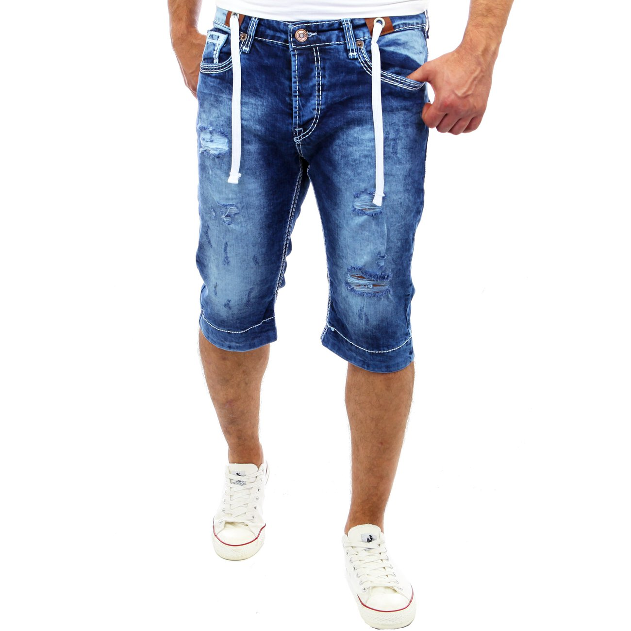 herren jeans shorts dicke naht denim kurze hose bermuda. Black Bedroom Furniture Sets. Home Design Ideas