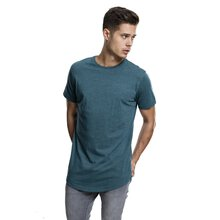Urban Classics T-Shirt Herren Shaped Long Melange Kurzarm...