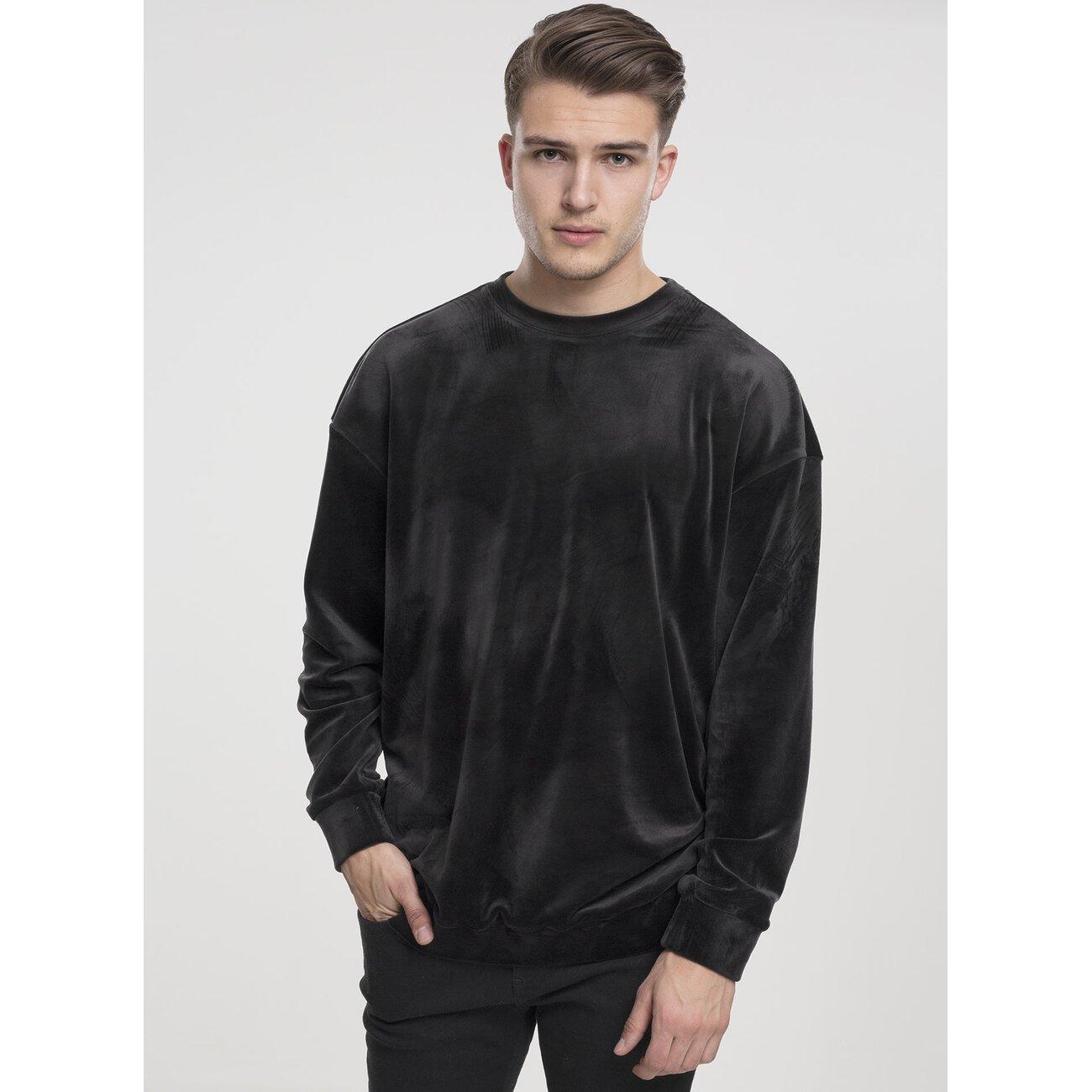 1ff4631fde0011 Urban Classics Sweatshirt Herren Velvet Crewneck Samt Pullover