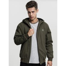 Urban Classics Winter-Jacke Herren Hooded Cotton Zip...