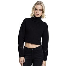 Urban Classics Damen Sweat-Shirt HiLo Turtleneck...