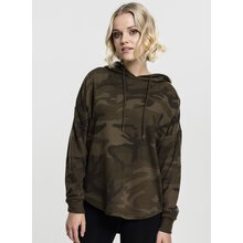 Urban Classics Damen Sweat-Shirt Oversized Camo Kapuzen...