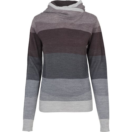 Urban Classics Damen Sweat-Shirt Multicolored Hig Neck Kapuzen Hoody TB-1821