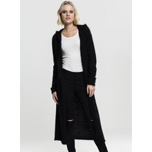 Urban Classics Damen Strick-Jacke Feather Kapuzen...