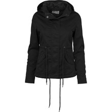 Urban Classics Damen Übergangs-Jacke Basic Cotton Kapuzen...