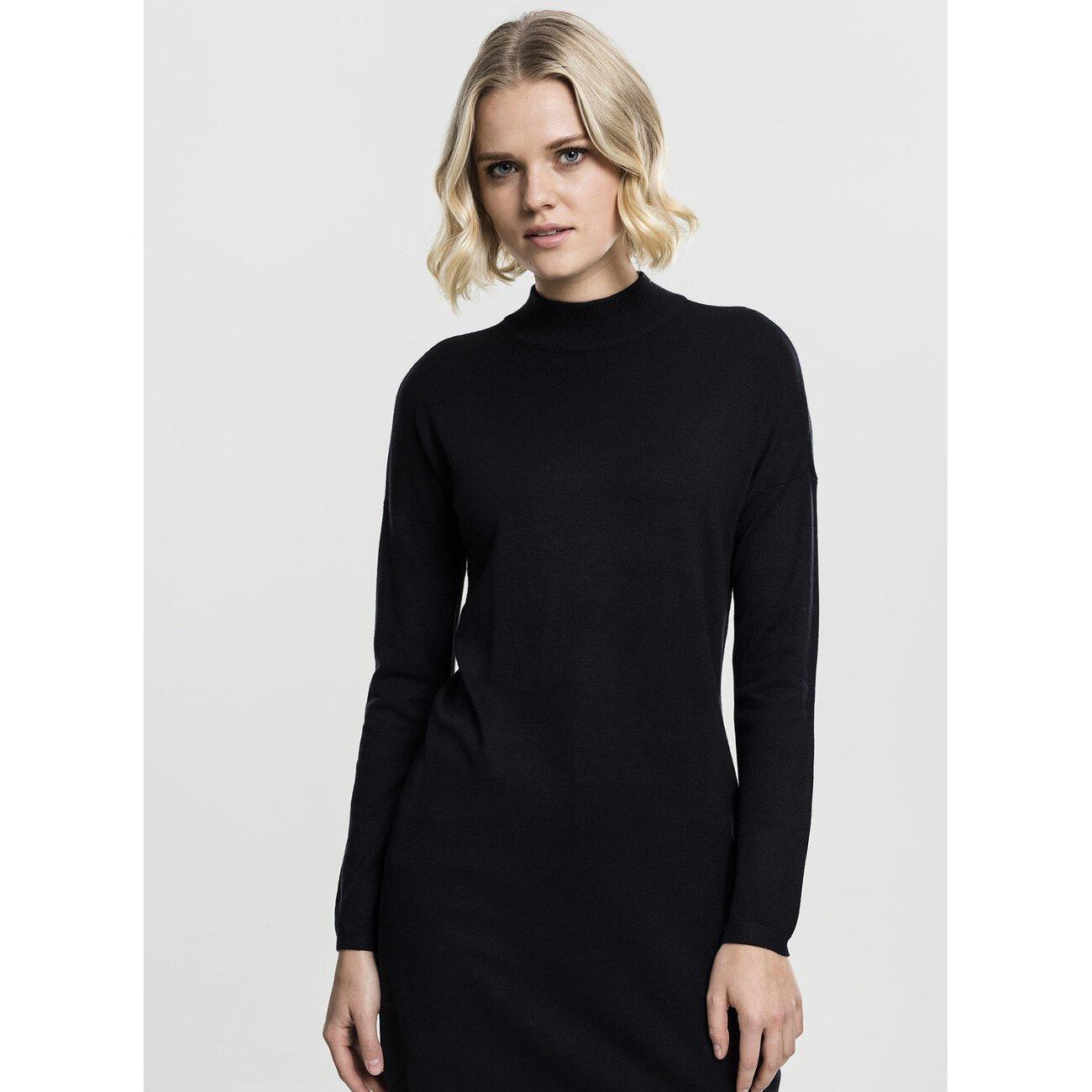 Urban Classics Damen Kleid Oversized Turtleneck Jersey Dress