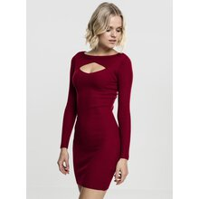 Urban Classics Damen Kleid geripptes Cut Out Dress TB-1742